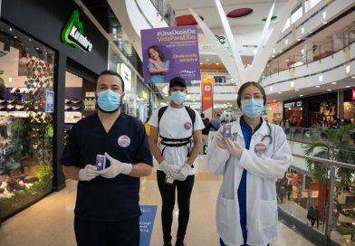 """Más de 1400 visitantes de Centro Mayor fueron impactados con la  campaña """"Una dosis de vida para ellas"""""""