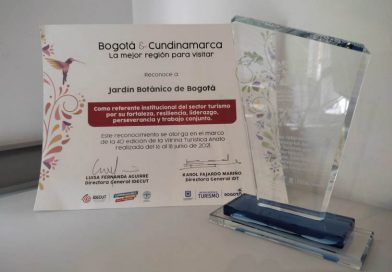 Jardín Botánico de Bogotá recibió reconocimiento especial como destino turístico de naturaleza